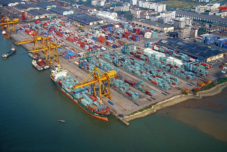 грузовые порты Китая